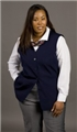 Ladies 70% Polyester/30% Wool Sleeveless Cardigan Blazer