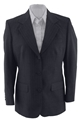 Ladies 55/45 PolyWool Single Breasted Pinstripe Blazer