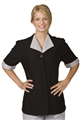 Ladies Solid Black Housekeeping Tunic