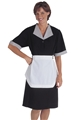 Ladies Solid Black Housekeeping Dress