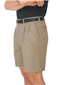 Men's Pleated Front Cotton Short