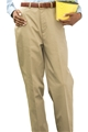 Ladies PolyCotton Flat Front Chino Pants