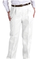 Ladies Pleated PolyCotton Twill Pant