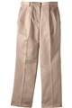 Ladies Pleated Front Cotton Pant