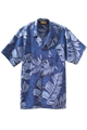 Unisex Leaf Print South Sea Camp Shirt