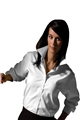Ladies Long Sleeve Soft Collar Pinpoint Shirt