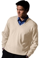 Men's/Unisex Cotton Cashmere V-Neck Sweater