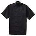 BLACK Knot Btn SS Chef Coat