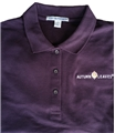..Women's AUTUMN LEAVES Polo.. Eggplant