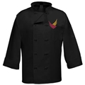 .   . 3/4 Sleeve Cloth Knot Chef Coat   . w/LOGO
