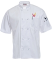 . Short Sleeve Cloth Knot Chef Coat  .  w/LOGO