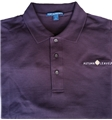 ..Men's AUTUMN LEAVES Polo.. Eggplant