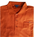 ........Men's AUTUMN LEAVES Polo....... TX Orange