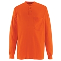 Men's Long Sleeve Tagless Henley Shirt (HRC2)