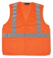 ANSI Class 2 Velcro 5 Point Break-Away Mesh Vest With 2 Pockets