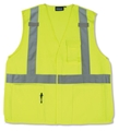 ANSI Class 2 Velcro 5 Point Break-Away Woven Oxford Vest With 5 Pockets