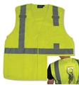 ANSI Class 2 Velcro Fall Protection D-Ring Pass-Througjh Vest with 6 Pockets