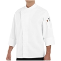 100% Cotton /Black piping Trim tunic Chef Coat