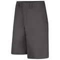 Men's Side Elastic Plain Front Uniform Short