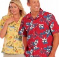 Unisex Tropical Print Campshirt