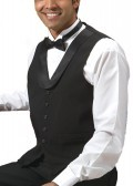 Men's Polyester Satin Shawl Lapel Vest