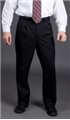 Men's Polyester Pleated Front Stretch Pant