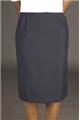 Ladies 100% Polyester Hip Pleated Skirt