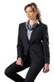 Ladies 55/45 PolyWool Single Breasted Blazer