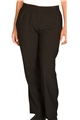 Ladies Polyester Black Pull-on Pants