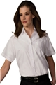 Ladies Short Sleeve Broadcloth Shirt