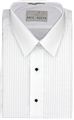 Men's Laydown Collar Tuxedo Shirt w/1/4 Pleats