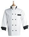 Black Trim Chef Coat w/ACF LOGO
