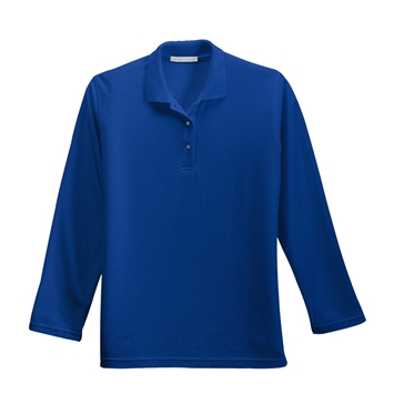 Ladies Silk Touch Pique Long Sleeve Polo