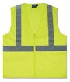 ANSI Class 2 Ecomony Zipper Mesh Vest/No Pockets
