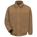 Men's FR Brown Duck Lined Bomber Jacket (HCRC3)