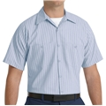 Men's Short Sleeve Stripe Workshirt