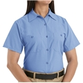 Ladies Short Sleeve Poplin Workshirt