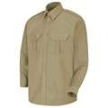 Men's Basic Long Sleeve PolyCotton Security Shirt