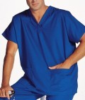 Unisex V Neck Tunic Scrub Top