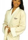 "Terry 52"" Microfiber Shawl Collar Robe w/Terry Lining"