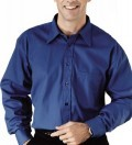 Men's Long Sleeve Point Collar Poplin Shirt
