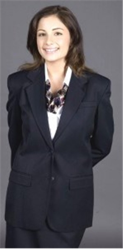 Ladies 70% Polyester /30% Wool 2 Button Blazer