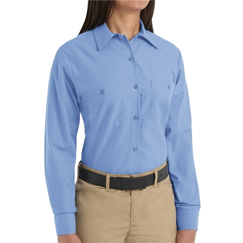 Ladies Long Sleeve Poplin Workshirt