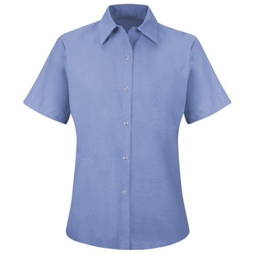 Ladies Short Sleeve Pocketless Work Shirt
